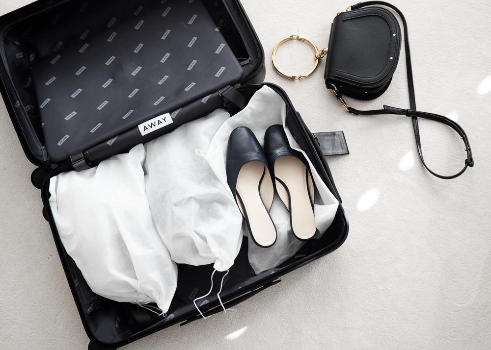 Away luggage organization